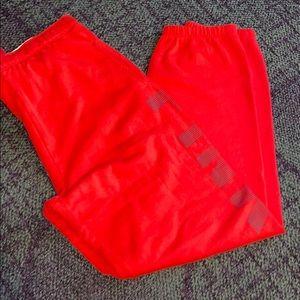 Red pink campus pants M